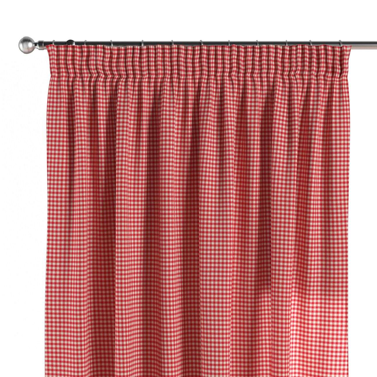 Pencil pleat curtains 130 x 260 cm (51 x 102 inch) in collection Quadro, fabric: 136-15