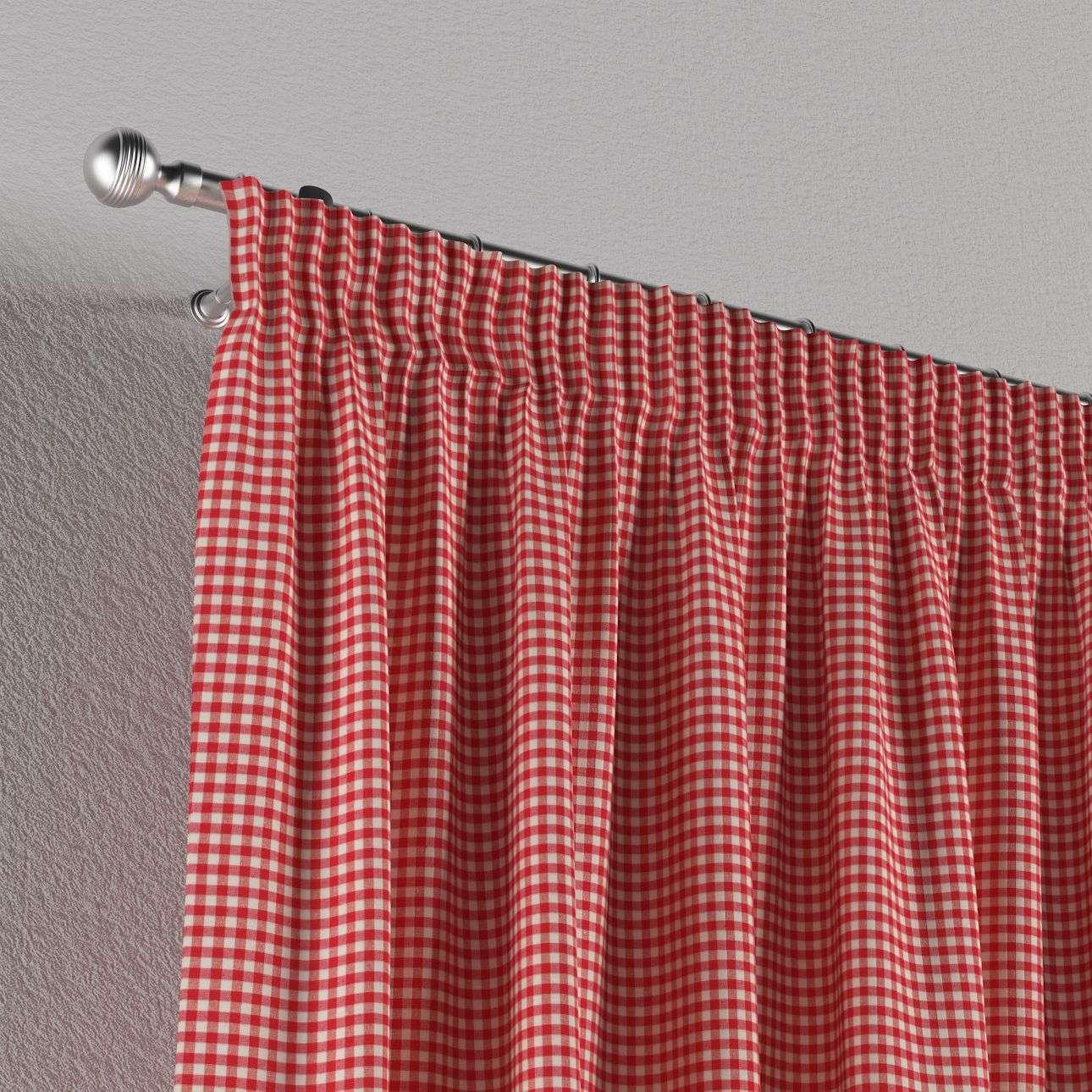 Vorhang mit Kräuselband 1 Stck. 130 x 260 cm von der Kollektion Quadro, Stoff: 136-15