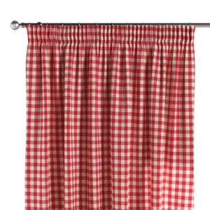 Pencil pleat curtains 130 x 260 cm (51 x 102 inch) in collection Quadro, fabric: 136-16