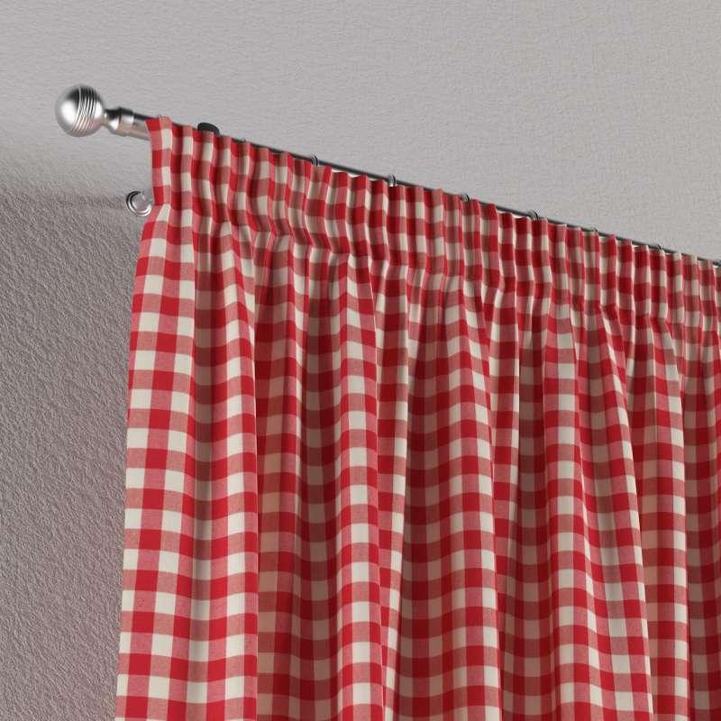 Pencil pleat curtain in collection Quadro, fabric: 136-16