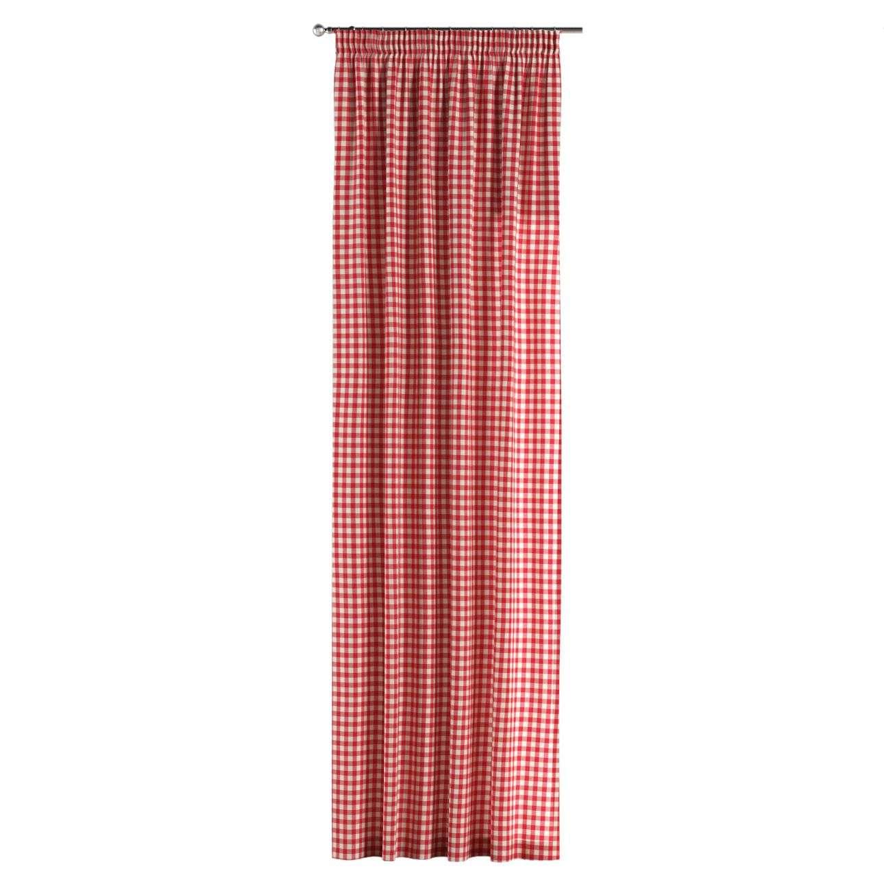Zasłona na taśmie marszczącej 1 szt. 1szt 130x260 cm w kolekcji Quadro, tkanina: 136-16
