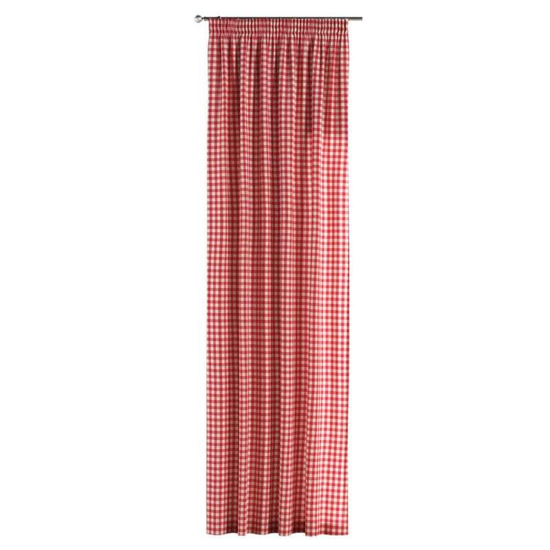 Vorhang mit Kräuselband von der Kollektion Quadro, Stoff: 136-16