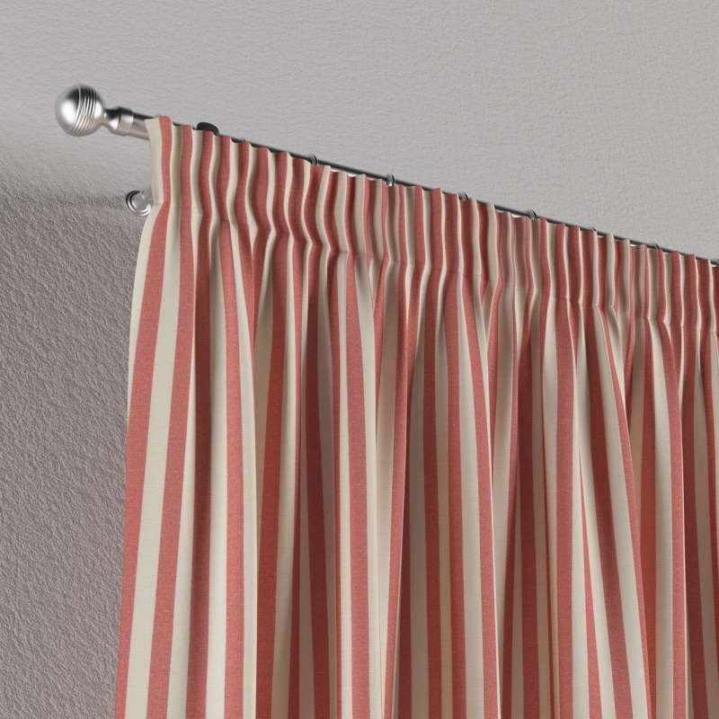 Pencil pleat curtain in collection Quadro, fabric: 136-17