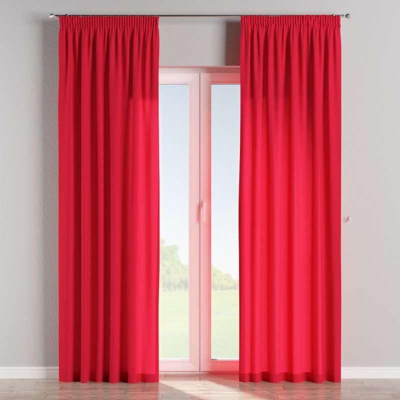 Pencil pleat curtain in collection Quadro, fabric: 136-19