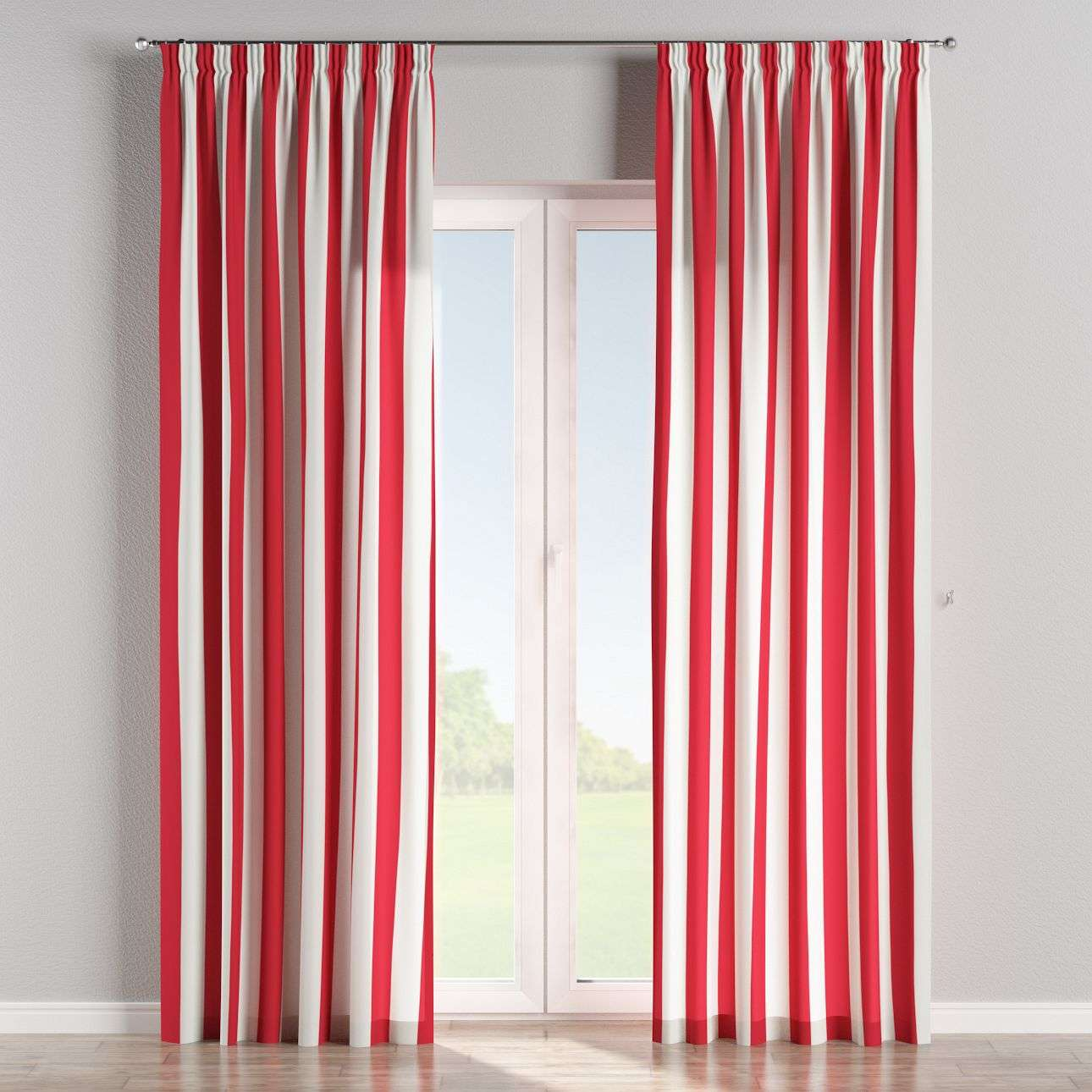 Pencil pleat curtains 130 x 260 cm (51 x 102 inch) in collection Comic Book & Geo Prints, fabric: 137-54