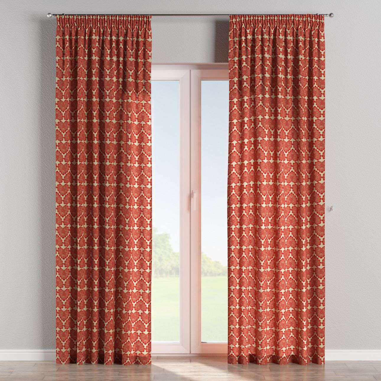 Pencil pleat curtains 130 x 260 cm (51 x 102 inch) in collection Freestyle, fabric: 629-17
