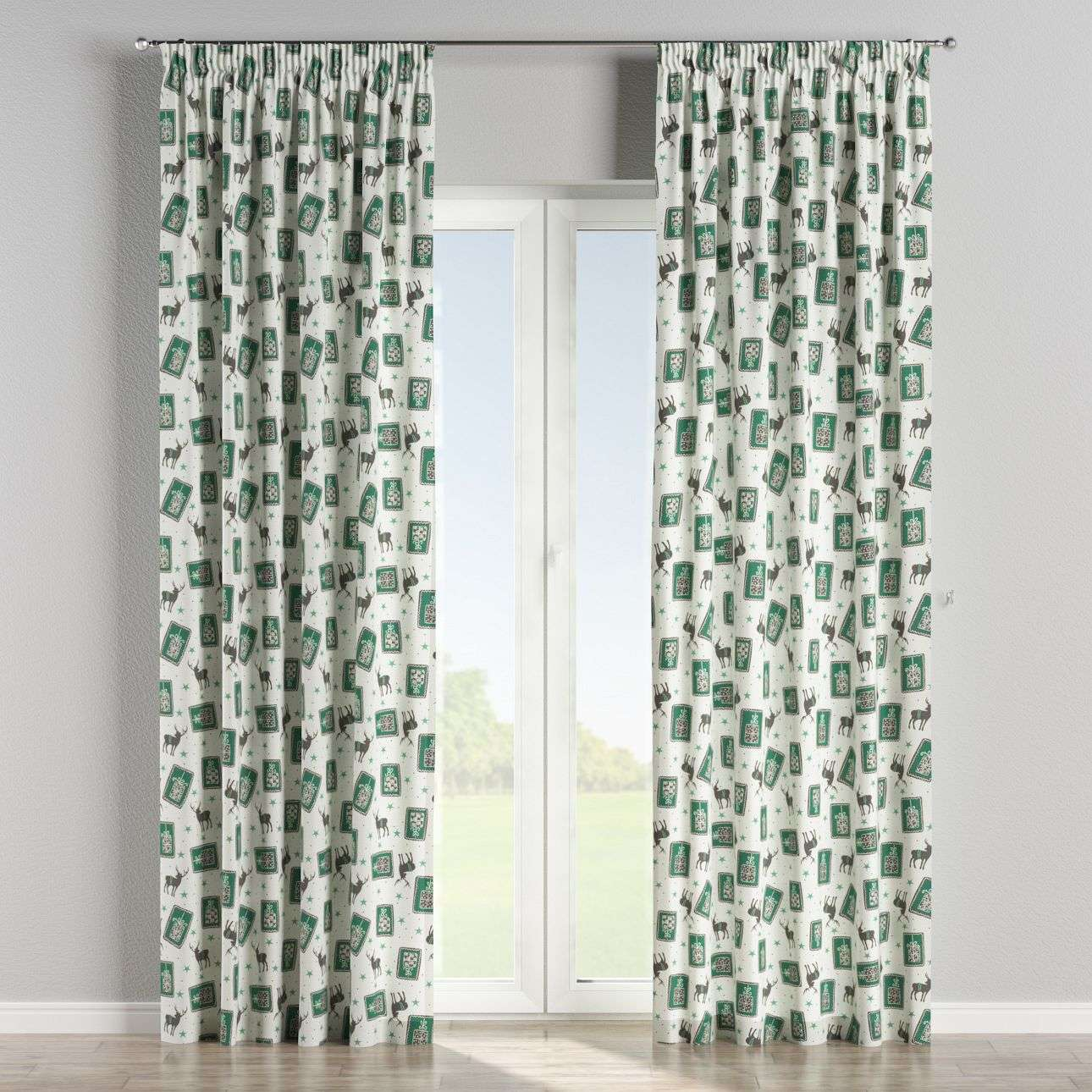 Pencil pleat curtains 130 x 260 cm (51 x 102 inch) in collection Nordic, fabric: 630-13