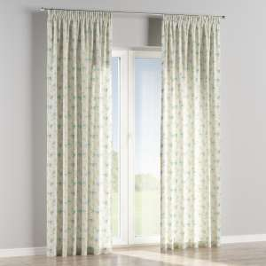 Pencil pleat curtains 130 x 260 cm (51 x 102 inch) in collection Mirella, fabric: 141-16