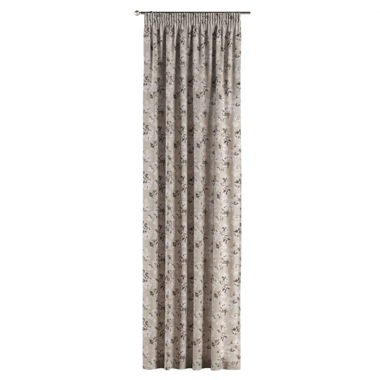 Pencil pleat curtains 130 x 260 cm (51 x 102 inch) in collection Rustica, fabric: 138-14