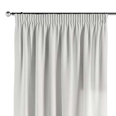 Pencil pleat curtain 702-34 pure white Collection Panama Cotton