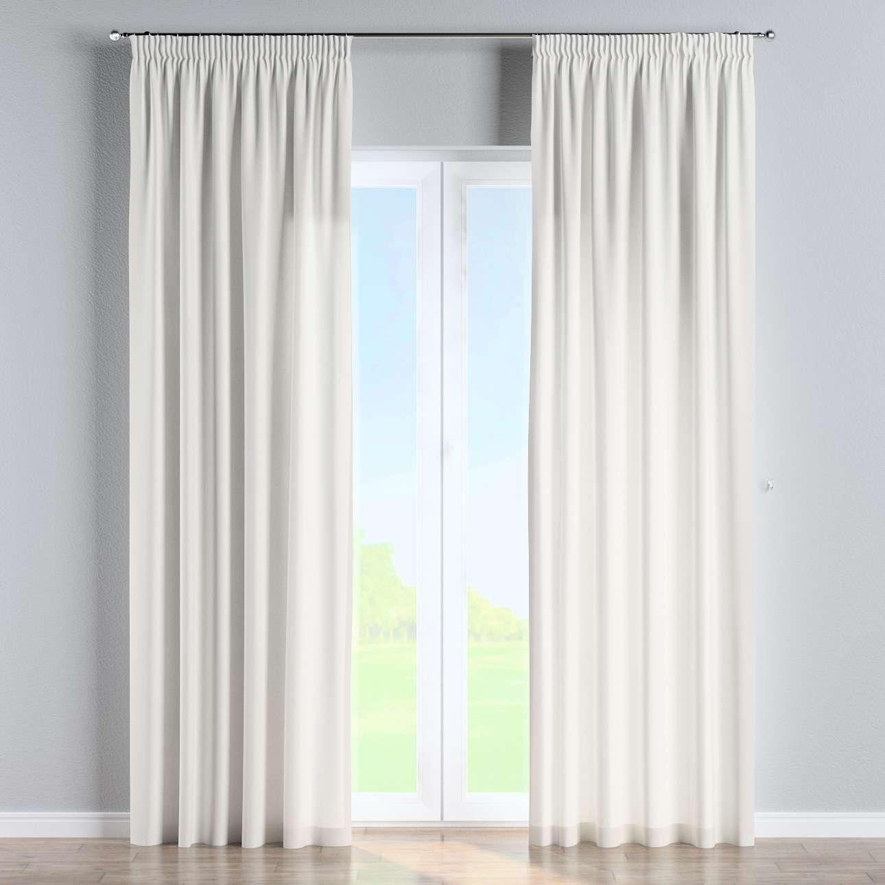 Vorhang mit Kräuselband 130 x 260 cm von der Kollektion Cotton Panama, Stoff: 702-34