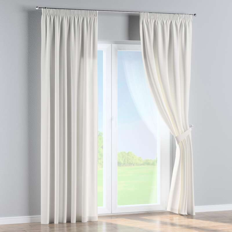 Pencil pleat curtain in collection Panama Cotton, fabric: 702-34