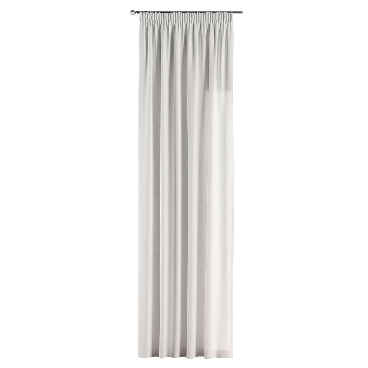 Gardin med rynkebånd 1 stk. 130 x 260 cm fra kolleksjonen Cotton Panama, Stoffets bredde: 702-34
