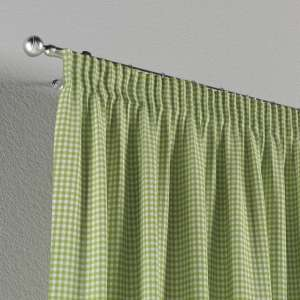 Pencil pleat curtains 130 x 260 cm (51 x 102 inch) in collection Quadro, fabric: 136-33