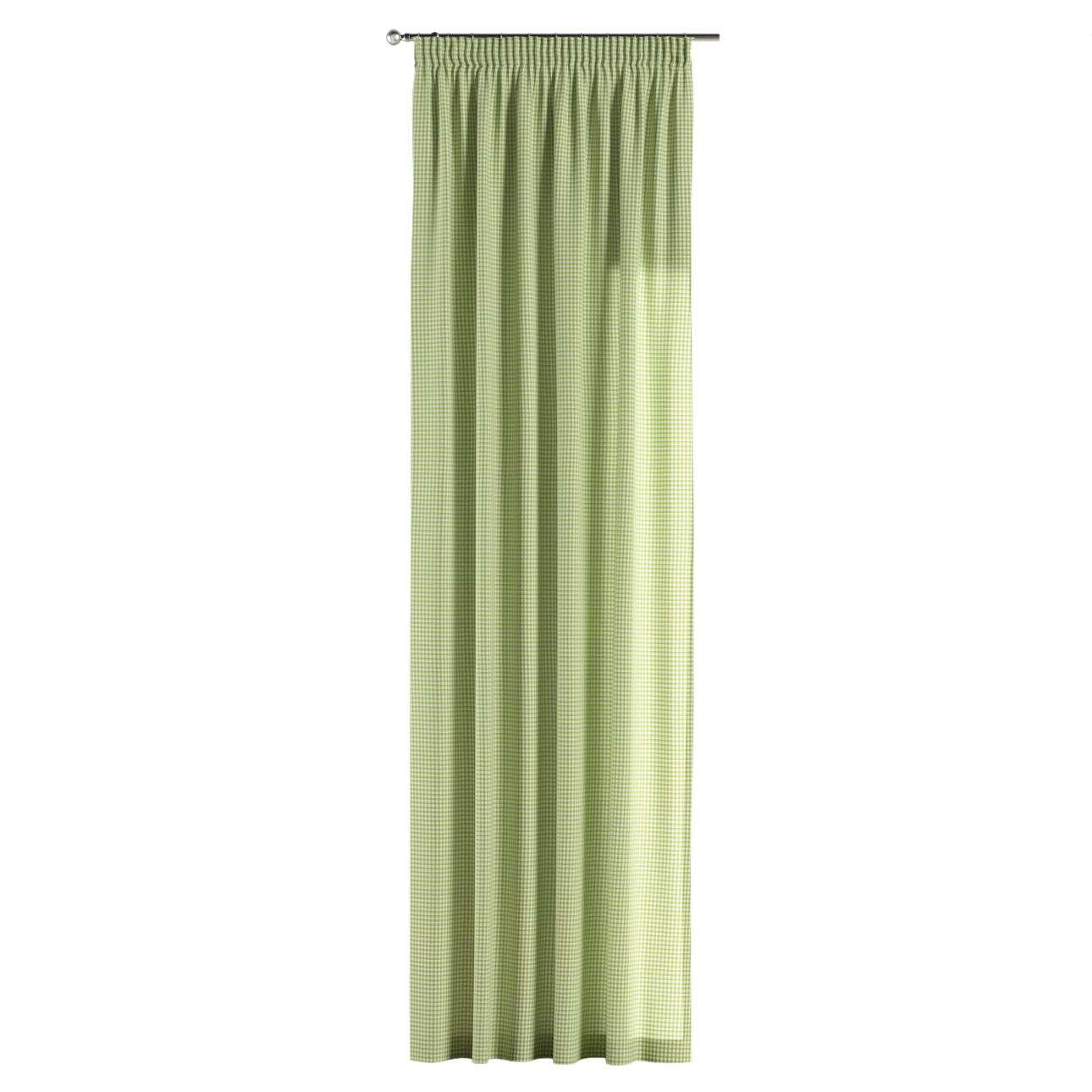 Pencil pleat curtains in collection Quadro, fabric: 136-33