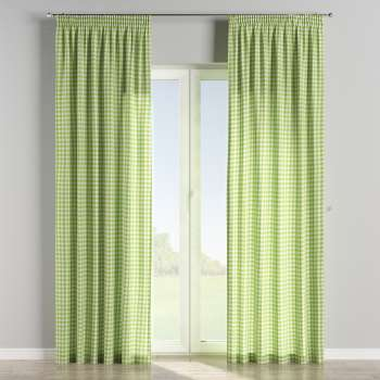Pencil pleat curtains 130 x 260 cm (51 x 102 inch) in collection Quadro, fabric: 136-34