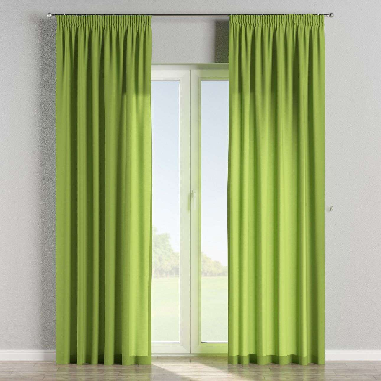 Pencil pleat curtains 130 x 260 cm (51 x 102 inch) in collection Quadro, fabric: 136-37