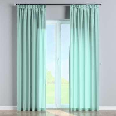 Vorhang mit Kräuselband 133-32 aqua-blau Kollektion Loneta
