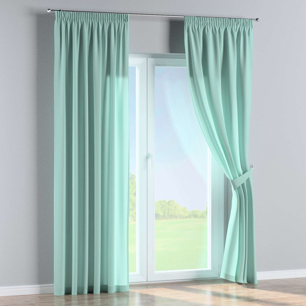 Pencil pleat curtains 130 x 260 cm (51 x 102 inch) in collection Loneta , fabric: 133-32