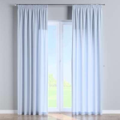 Vorhang mit Kräuselband 133-35 hellblau Kollektion Loneta