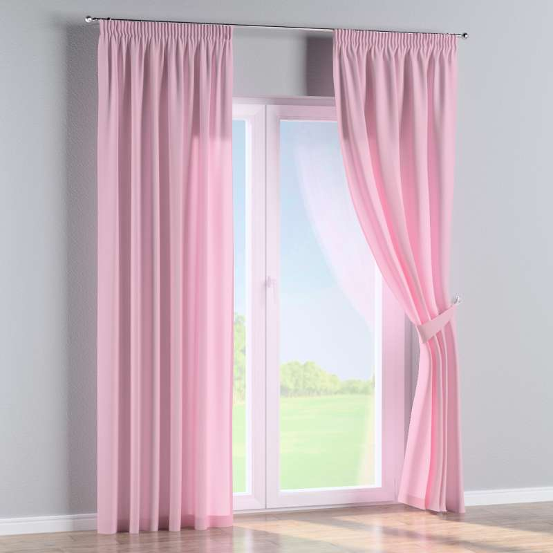 Pencil pleat curtain in collection Loneta , fabric: 133-36