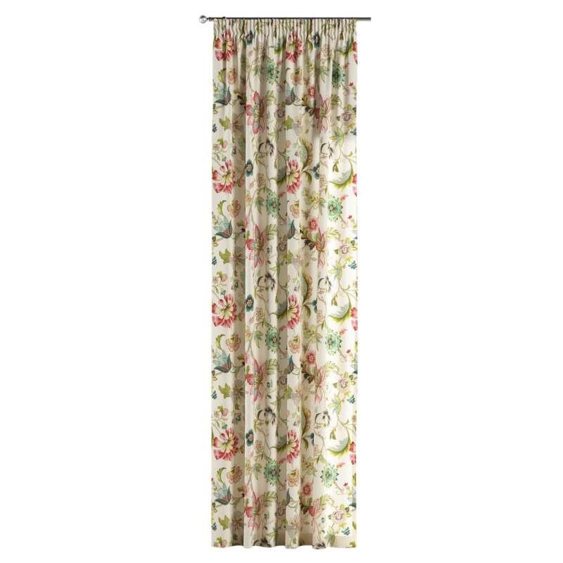 Vorhang mit Kräuselband von der Kollektion Londres, Stoff: 122-00