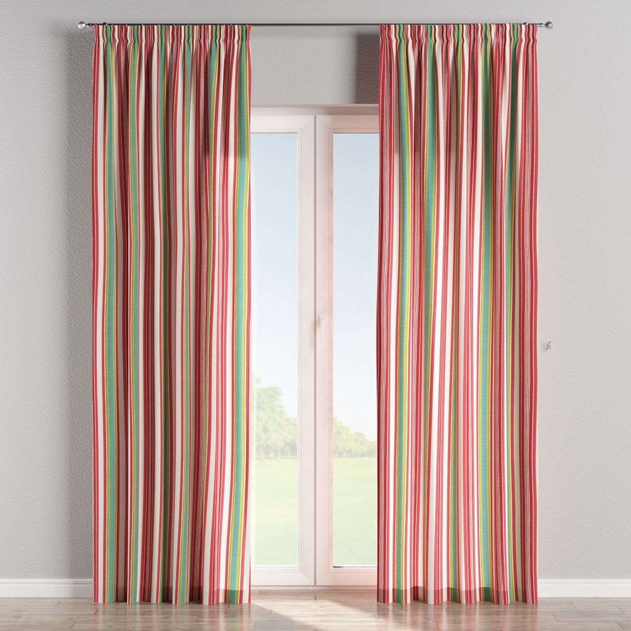 Pencil pleat curtains 130 x 260 cm (51 x 102 inch) in collection Londres, fabric: 122-01