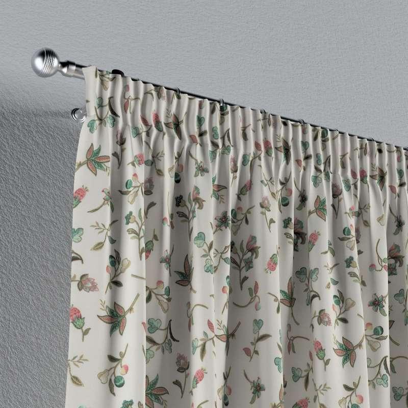Záves na riasiacej páske V kolekcii Londres, tkanina: 122-02
