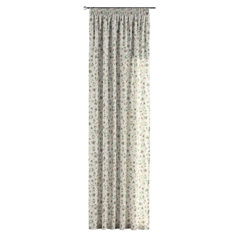 Pencil pleat curtain in collection Londres, fabric: 122-02