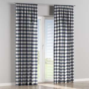 Vorhang mit Kräuselband 130 x 260 cm von der Kollektion Quadro, Stoff: 136-03