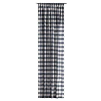 Zasłona na taśmie marszczącej 1 szt. 1szt 130x260 cm w kolekcji Quadro, tkanina: 136-03