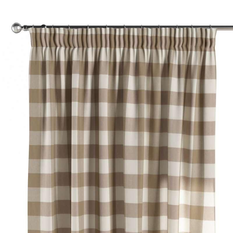Vorhang mit Kräuselband von der Kollektion Quadro, Stoff: 136-08