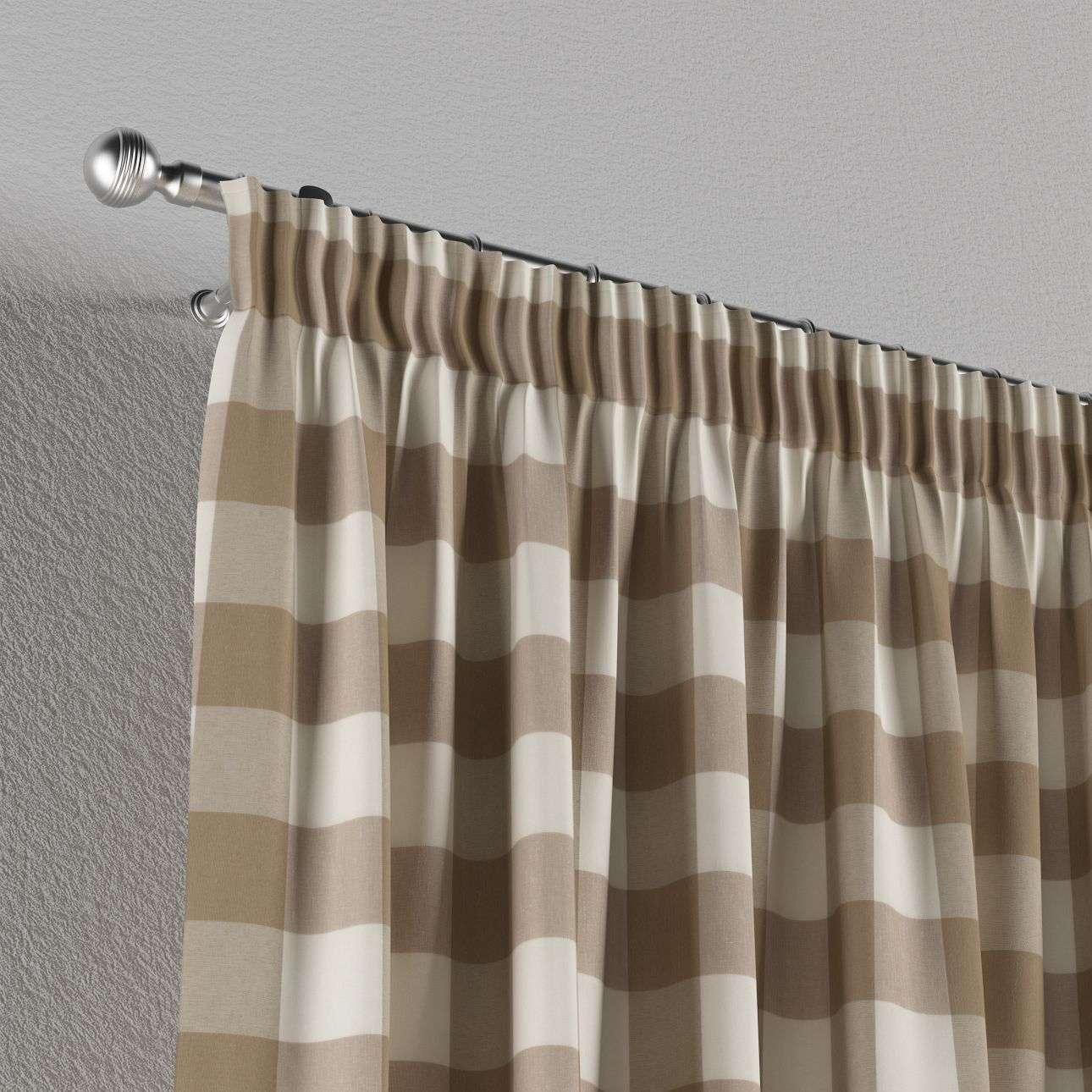 Függöny ráncolóval 130 x 260 cm a kollekcióból Lakástextil Quadro, Dekoranyag: 136-08