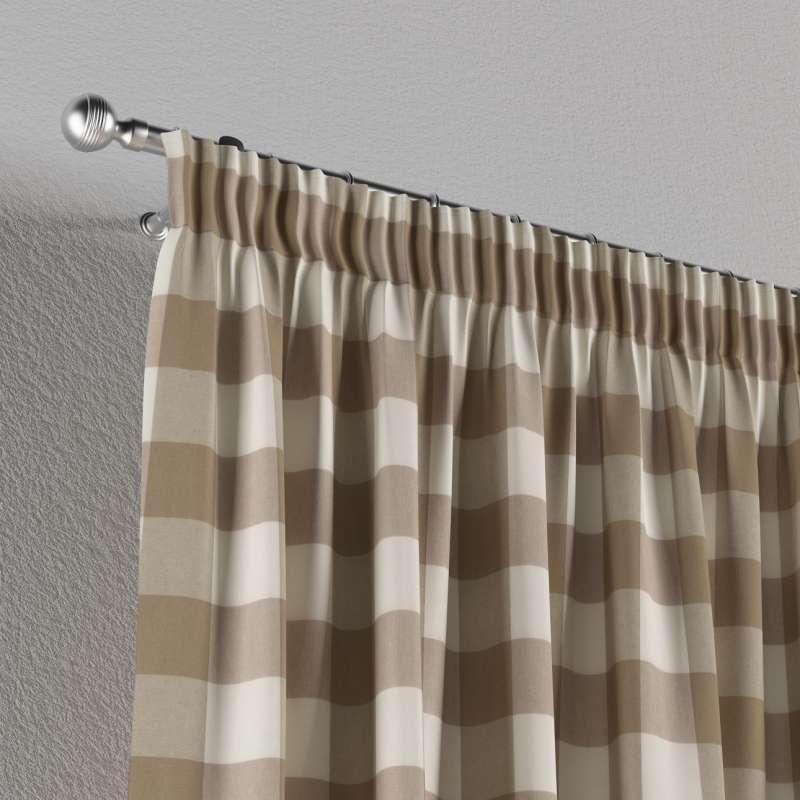 Függöny ráncolóval a kollekcióból Quadro Lakástextil, Dekoranyag: 136-08