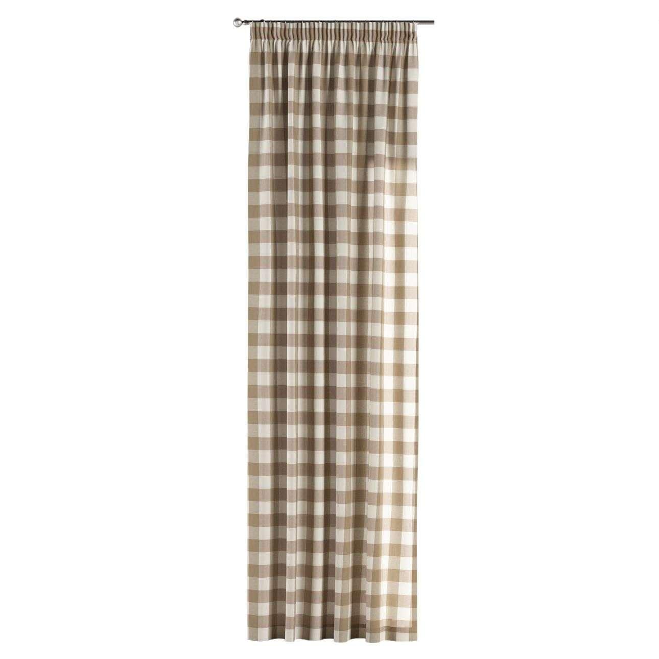 Zasłona na taśmie marszczącej 1 szt. 1szt 130x260 cm w kolekcji Quadro, tkanina: 136-08