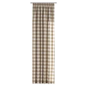 Vorhang mit Kräuselband 130 x 260 cm von der Kollektion Quadro, Stoff: 136-08