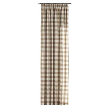 Pencil pleat curtains in collection Quadro, fabric: 136-08