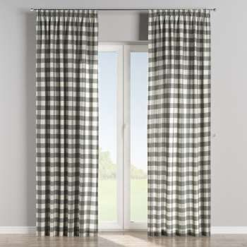 Pencil pleat curtains 130 x 260 cm (51 x 102 inch) in collection Quadro, fabric: 136-13