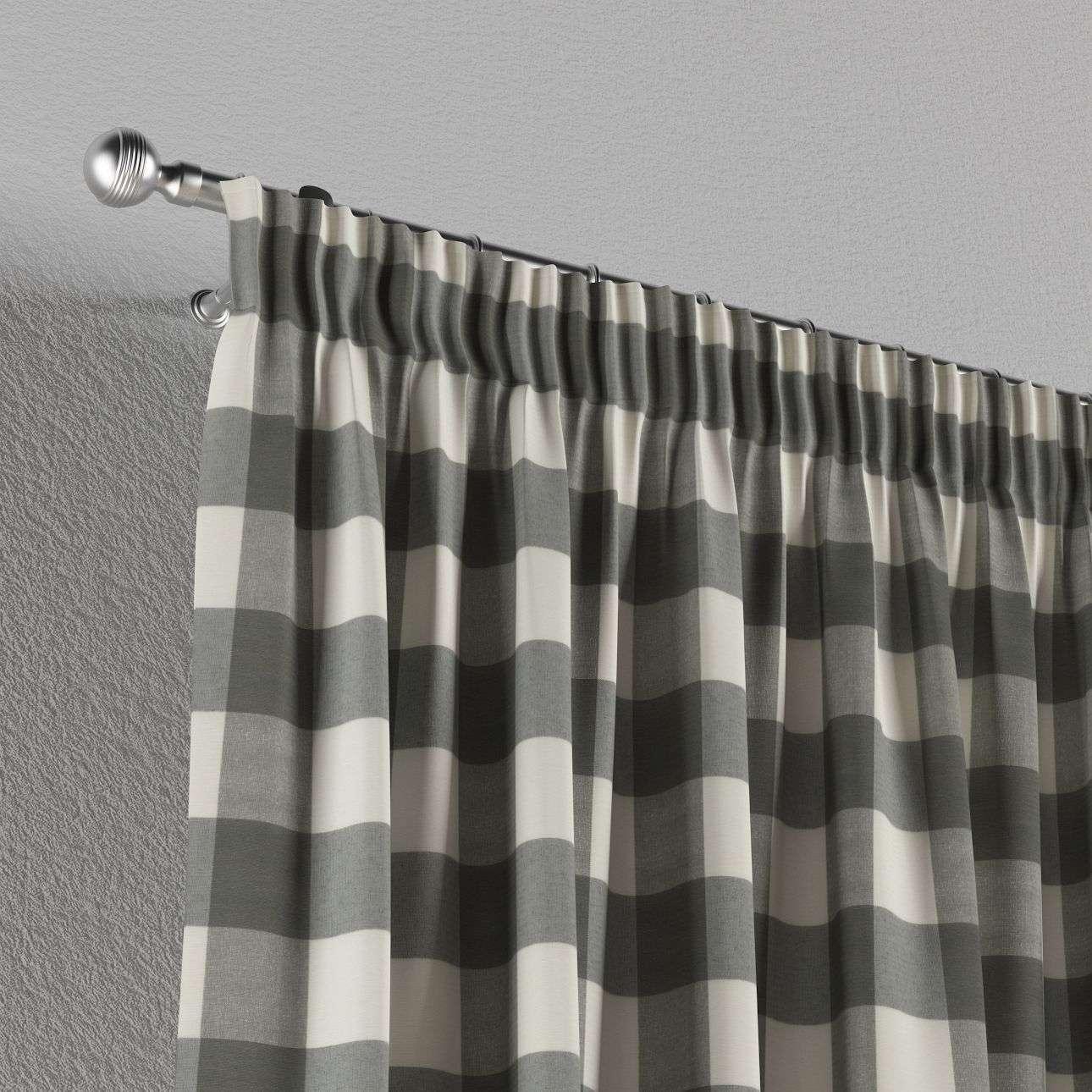 Vorhang mit Kräuselband 1 Stck. 130 x 260 cm von der Kollektion Quadro, Stoff: 136-13