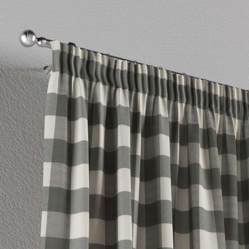 Vorhang mit Kräuselband von der Kollektion Quadro, Stoff: 136-13