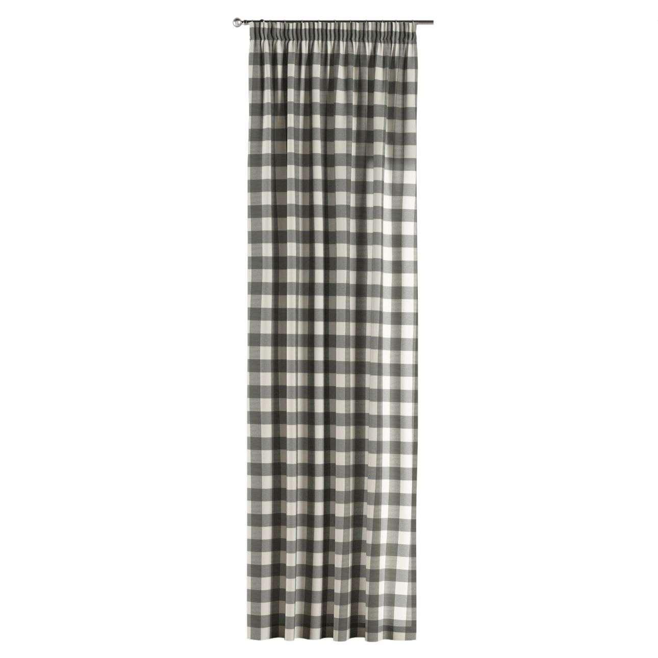 Gardin med rynkebånd 1 stk. 130 x 260 cm fra kolleksjonen Quadro, Stoffets bredde: 136-13