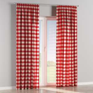 Pencil pleat curtains 130 x 260 cm (51 x 102 inch) in collection Quadro, fabric: 136-18