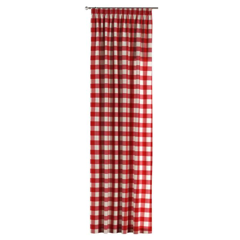Pencil pleat curtain in collection Quadro, fabric: 136-18