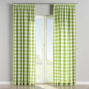 Pencil pleat curtains 130 x 260 cm (51 x 102 inch) in collection Quadro, fabric: 136-36