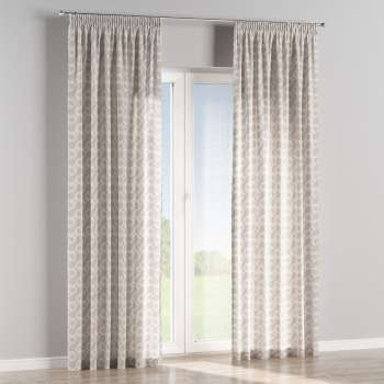 Pencil pleat curtains 130 × 260 cm (51 × 102 inch) in collection Flowers, fabric: 311-11