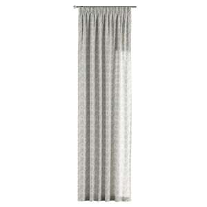 Pencil pleat curtains 130 x 260 cm (51 x 102 inch) in collection Flowers, fabric: 311-13