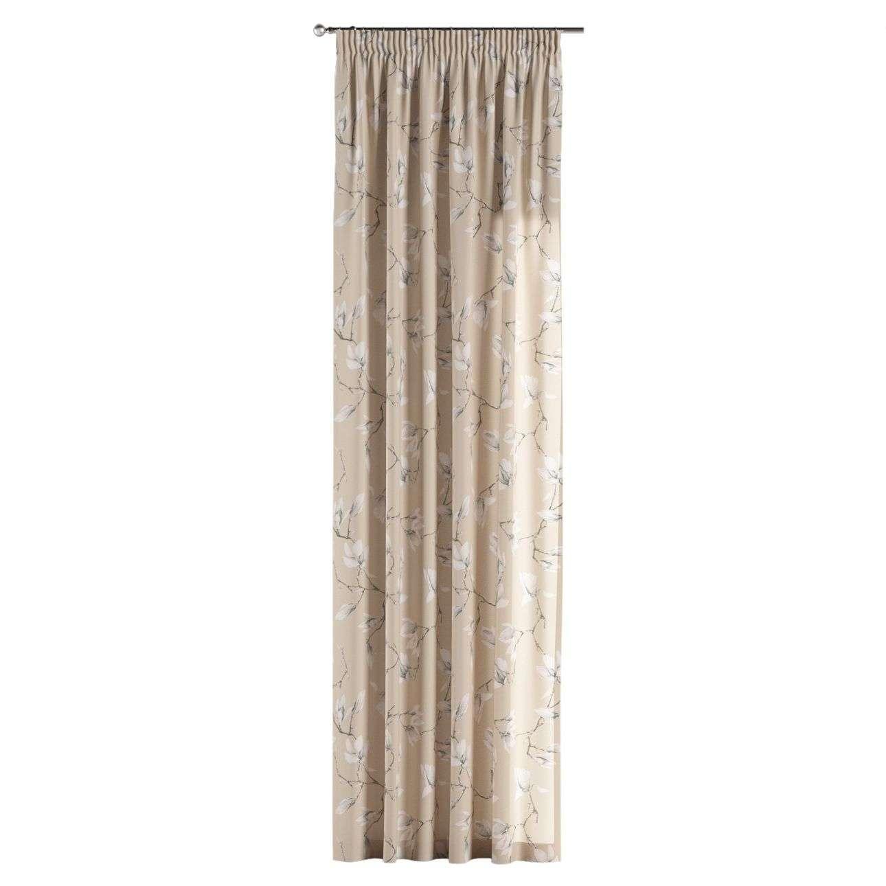 Pieštukinio klostavimo užuolaidos 130 x 260 cm (plotis x ilgis) kolekcijoje Flowers, audinys: 311-12