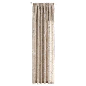 Függöny ráncolóval 130 x 260 cm a kollekcióból Lakástextil Flowers/Luna, Dekoranyag: 311-12