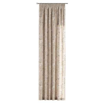 Gardin med rynkband 1 längd i kollektionen Flowers, Tyg: 311-12