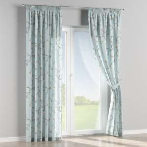 Pencil pleat curtains 130 x 260 cm (51 x 102 inch) in collection Flowers, fabric: 311-14